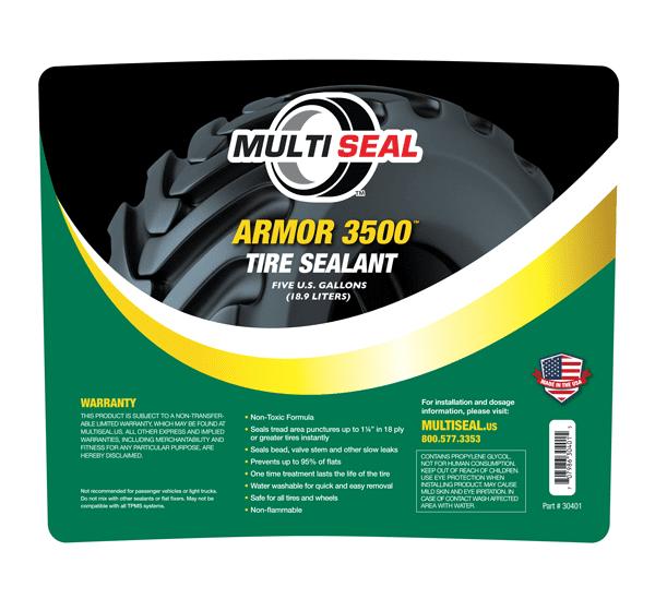 Armor 3500 Tire Sealant 5 gallon label