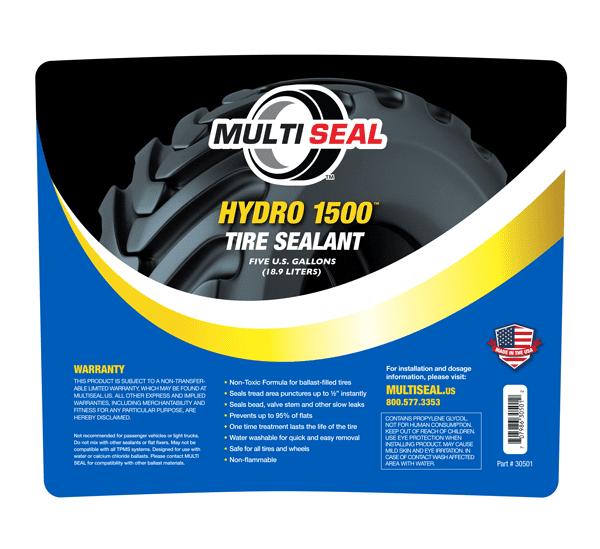 Hydro 1500 Tire Sealant 5 gallon label