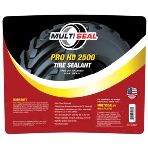 Pro HD 2500 Tire Sealant 5 gallon label